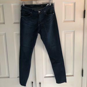 AG The Farrah High Rise Skinny Raw Hem Jeans 31